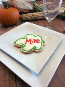 Variety of Name Place Cards for Holiday Tablescapes w/ Sugar Cookie & Buttercream Recipe