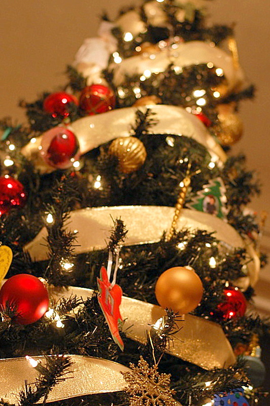 Decorating simple ways to give your home christmas cheer for Easy ways to decorate your christmas tree