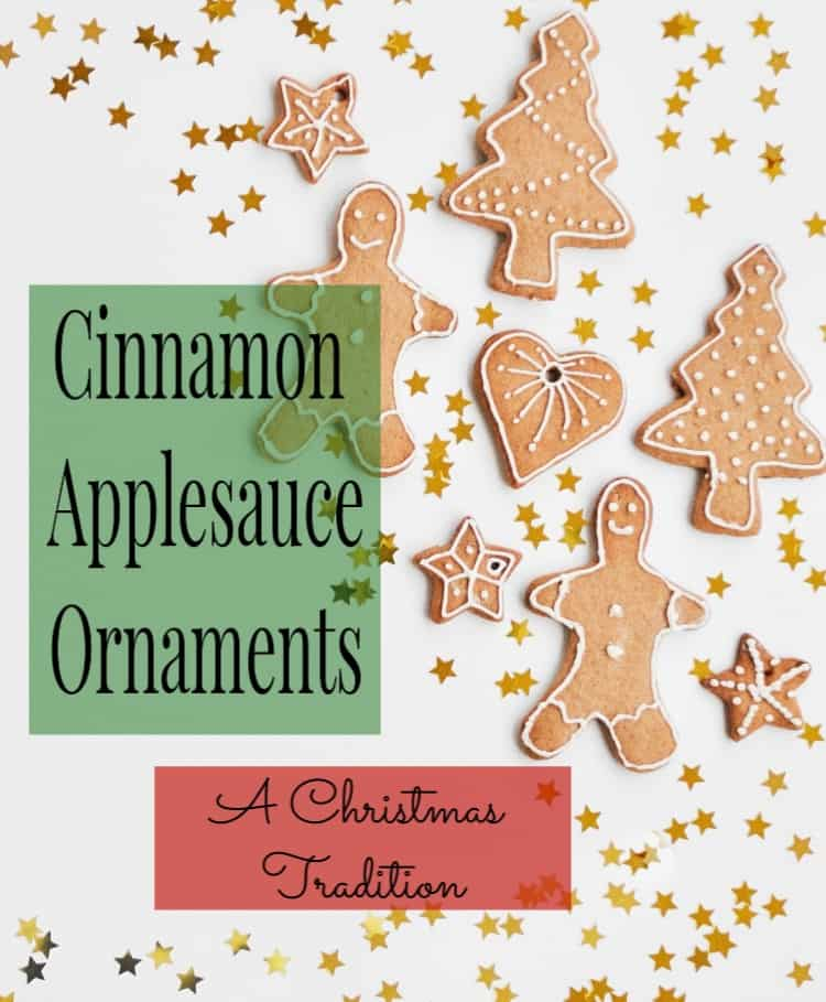 Cinnamon Applesauce Ornaments are a quick to make Christmas tradition