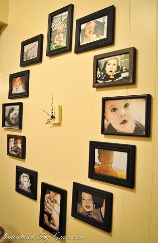 Photo Wall Clock make time for a simple diy project: how to create a photo wall clock