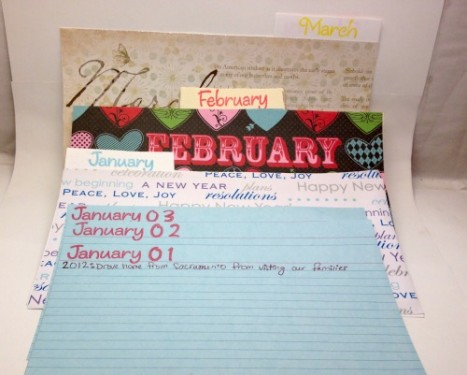 Family Journal Calendar Pages