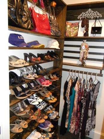 from cluttered to organized a you can diy closet shoe organizer. Black Bedroom Furniture Sets. Home Design Ideas