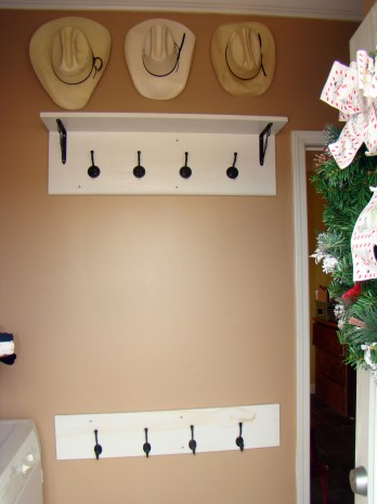 How To Make A Coat Rack With Shelf