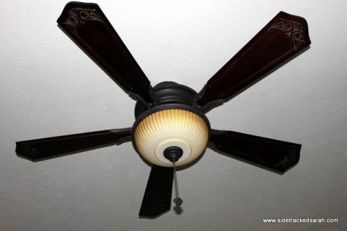 Clean your ceiling fan without making a mess and let your dust bunnies free outside i didnt have many bunnies on this one just a pillowcase full of thick dust it required a good beating and then a mozeypictures Choice Image