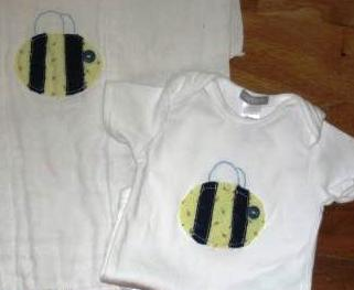 make a bumblebee applique for baby