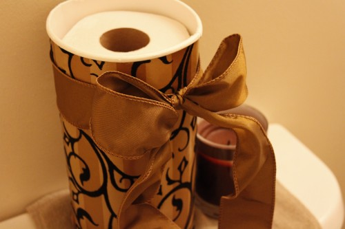 from oatmeal canister to upscale TP holder
