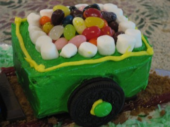 coal car train cake