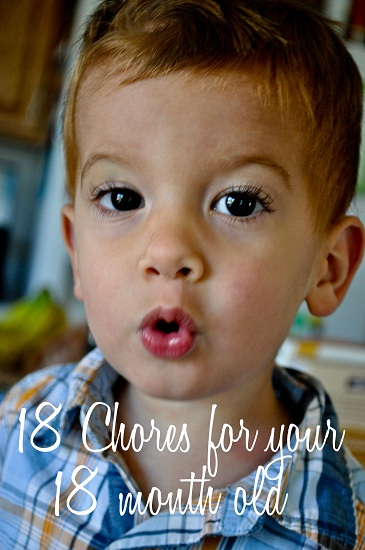Including your 18 month old in daily chores