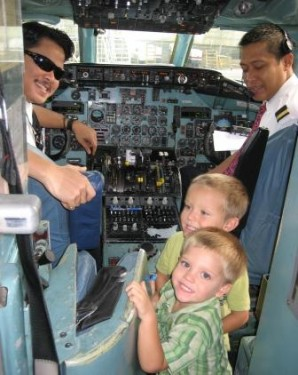 International travel with small children