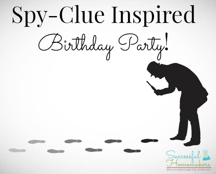 Spy-Clue Inspired Birthday Party graphic