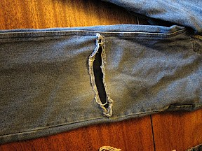 An Easy, No-Sew Way to Patch Jeans