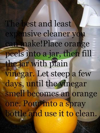 vinegar, orange vinegar, cleaning recipe, vinegar recipe