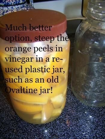 orange vinegar, cleaning with vinegar