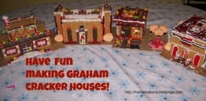 Christmas Tradition- Have fun making graham cracker houses ~ Successful Homemakers