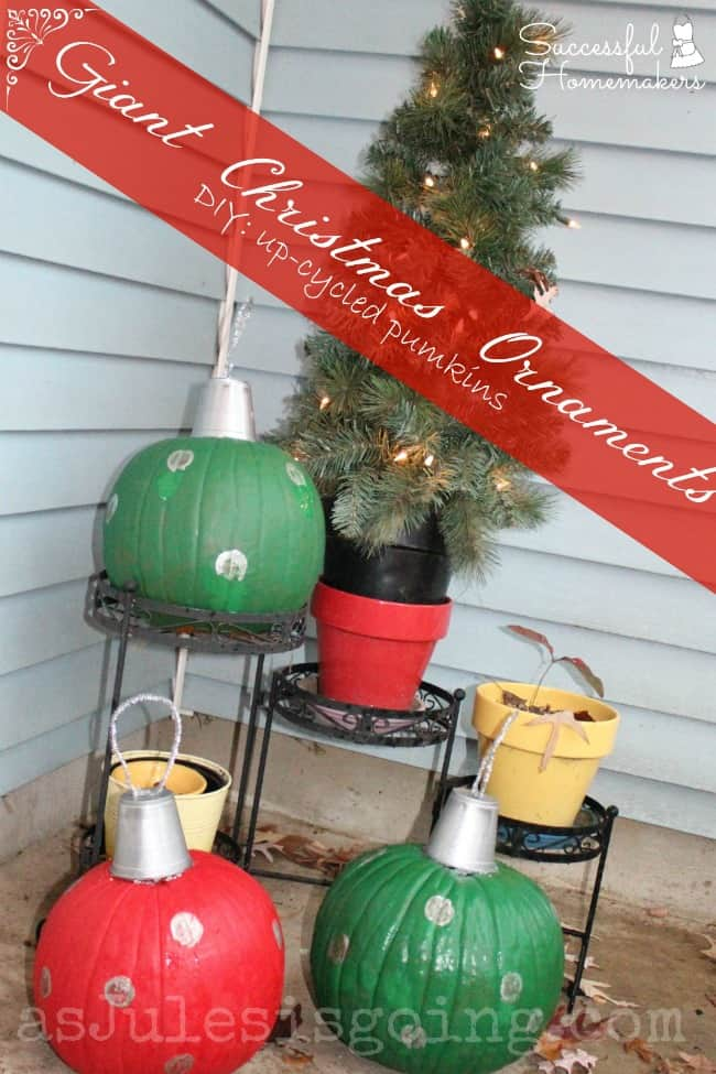 Pumpkin Christmas Ornaments