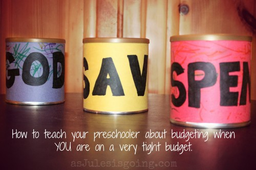 budgeting for preschoolers