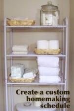 Create a custom homemaking schedule