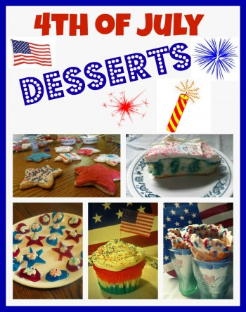 Fun foods! Red, White, and Blue Desserts 4th of July recipes