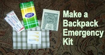 Make a backpack emergency kit