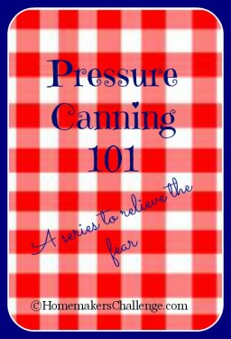 Pressure Canning 101- A Series to Relieve the Fear