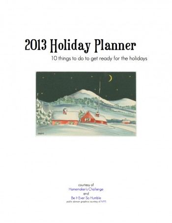 2013 Holiday Planner