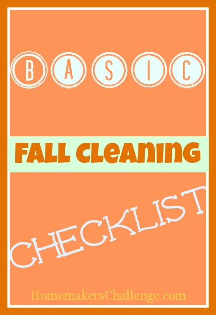 Basic Fall Cleaning Checklist at Homemakers Challenge