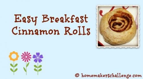 Easy Breakfast Cinnamon Rolls at Homemakers Challenge