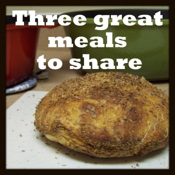 Three great meals to share @ Homemaker's Challenge