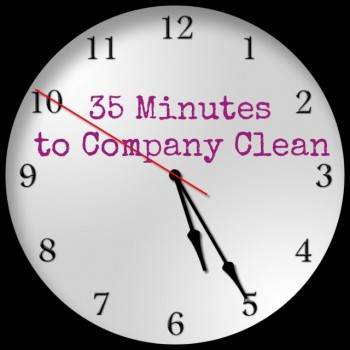 35 minutes company clean at Homemakers Challenge