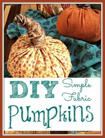 DIY simple pumpkin craft at Homemakers Challenge
