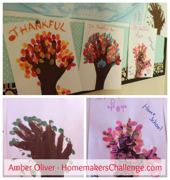 Three ways to do a thankful tree at Homemakers Challenge