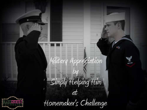 military appreciation at Homemakers Challenge