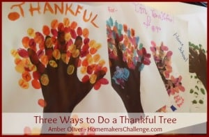 Three Ways to Make a Thankful Tree ~ Successful Homemakers