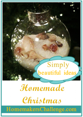 Simply Beautiful ideas for a Homemade Christmas at Homemakers Challenge