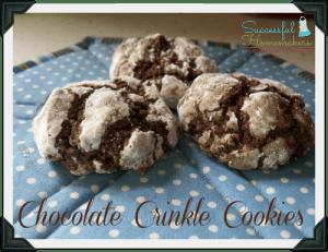 Chocolate Crinkle Cookies ~ Successful Homemakers