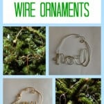 Christmas tree wire ornaments ~ Successful Homemakers