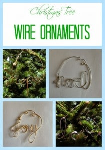 Christmas Tree Wire Word Ornaments