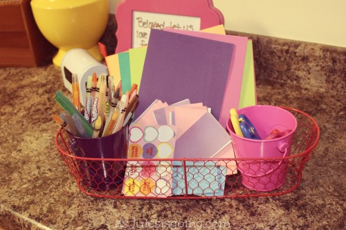 Love Note Station supplie caddy