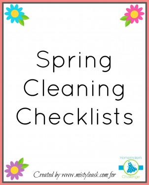 Free spring cleaning checklists printables from Homemaker's Challenge