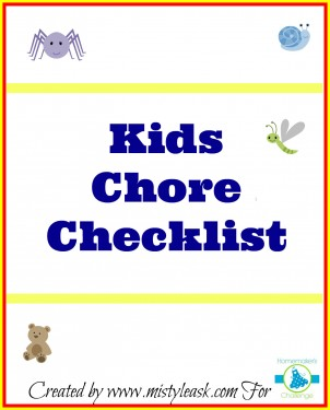 Kids Chore Checklist at Homemaker's Challenge