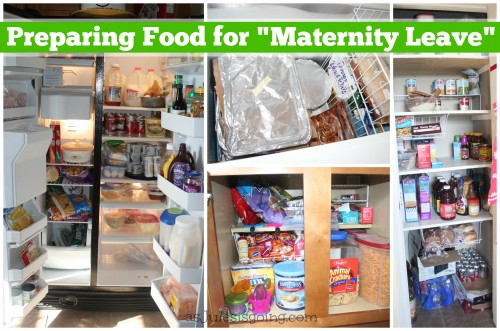 Preparing Food for Maternity Leave from Homemaker's Challenge