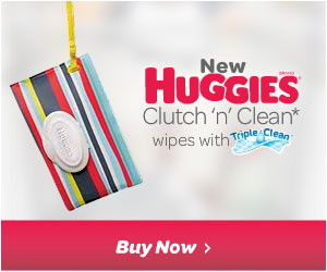 Huggies clutch and clean