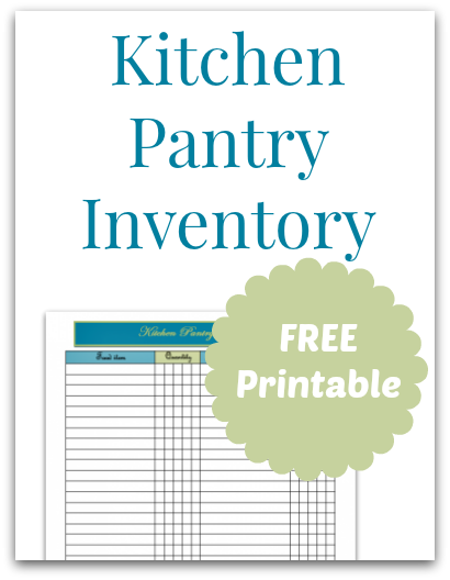 photo about Printable Pantry List named Kitchen area Pantry Stock Totally free Printable