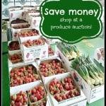 Save money- shop at a produce auction!