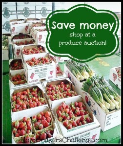 Save money- shop at a produce auction!