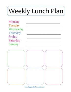 Quick & Easy Lunches {w/a Big List of Lunch Ideas and Lunch Planning Printable}