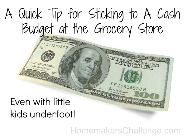 Grocery Store Cash Budget