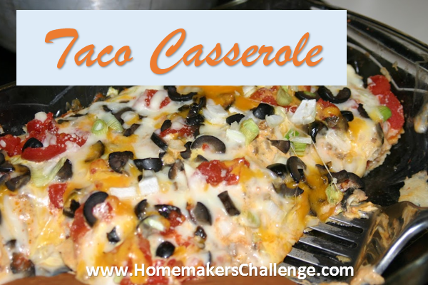 Taco Casserole - Yummy Family Meal