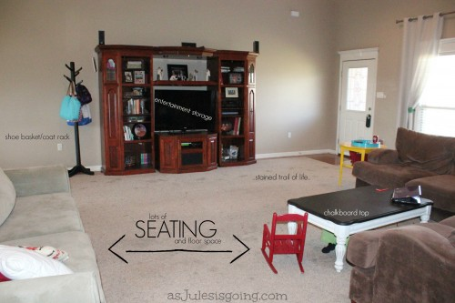 10 Practical Livingroom Zones to Make Hospitality Natural {with Lots of Littles} -other side of the room-