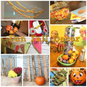Practical Fun Fall Decor {with Lots of Littles}